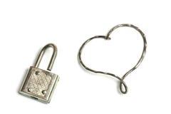 Unlocked heart Stock Photo