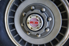 Unlocked Hub. Locking hubs on the wheel of a truck Royalty Free Stock Photos