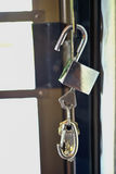 UNLOCKED. The key is inserted into the lock, which shows that the keys has been unlocked Royalty Free Stock Photo