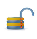 Unlocked lock button icon Stock Photo
