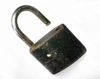 With an unlocked lock. Key Stock Photography