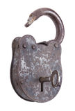 Unlocked Medieval Padlock With Key Royalty Free Stock Image