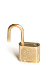 Unlocked padlock. Isolated on white Royalty Free Stock Images