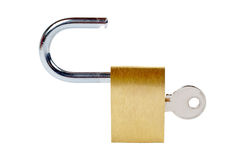 Unlocked padlock Royalty Free Stock Photos