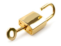 Unlocked Padlock Royalty Free Stock Photography