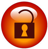Unlocked padlock web icon Royalty Free Stock Images
