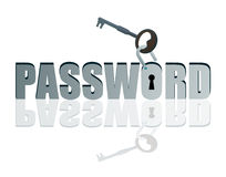 Unlocked password Royalty Free Stock Image