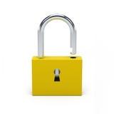 Unlocked yellow lock. Royalty Free Stock Photo