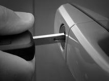 Unlocking car door Stock Photos