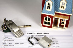 Unlocking Credit stock photography