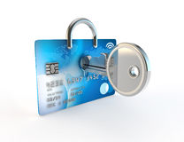 Unlocking a credit card perhaps for credit rating Royalty Free Stock Images