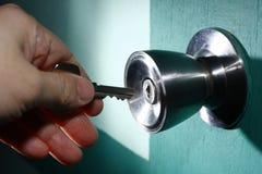 Unlocking A Door Stock Image