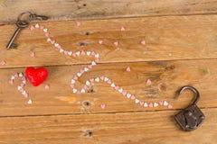 Unlocking hearts royalty free stock photos