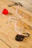 Unlocking hearts stock image