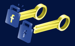 Unlocking the Possibilities with Facebook. Keys and locks of Facebook, use them to unlock your potentials to success