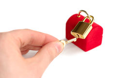 Unlocking Present Box Royalty Free Stock Photo