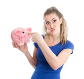Unloved piggy bank Stock Photos
