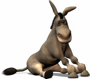 Unlucky Donkey. A very unlucky Donkey sits and don't know how it could happens Royalty Free Stock Photos