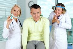 Unlucky patient Royalty Free Stock Images