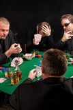 Unlucky poker players Stock Image