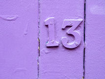Unlucky purple thirteen Stock Photos