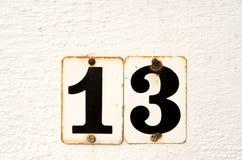Unlucky Thirteen Stock Images