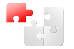 Unmöglich, Puzzlen zu lösen lizenzfreie abbildung