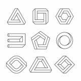 Unmögliche Formen vektor abbildung