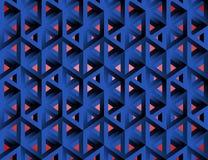 Unmögliche Zahlen isometrische hohle Würfel 3d lizenzfreie abbildung