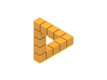 Unmögliches Dreieck Stockbilder