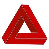 Unmögliches Dreieck, optische Illusion Lizenzfreies Stockfoto