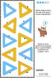 Unmögliches Gegenstandsichtbarmachungsrätsel Stockbilder