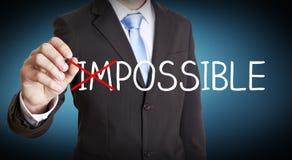 Unmögliches Lösungskonzept des Geschäftsmannes Stockbilder