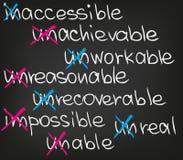 Unmögliches unvernünftiges Stockbild