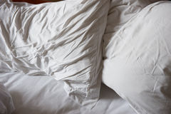 unmade грязное кровати Стоковое Изображение