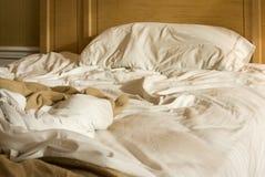 unmade кровать Стоковые Фото