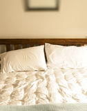 Unmade bed detail Royalty Free Stock Images