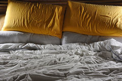 Unmade bed Royalty Free Stock Photography