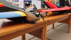 Unmanned Aerial DIY Vehicle. Unmanned aerial vehicle colorful drone stock video