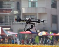 Unmanned Aerial Vehicle with a Digital Camera Royalty Free Stock Photos