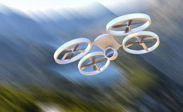 Unmanned Aerial Vehicle drone in flight Stock Photos