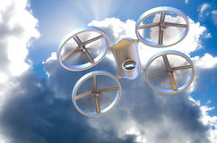 Unmanned Aerial Vehicle drone in flight Royalty Free Stock Photo