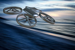 Unmanned Aerial Vehicle drone in flight Royalty Free Stock Images