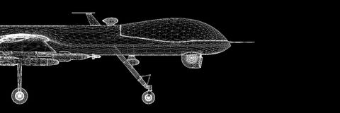 Unmanned Aerial Vehicle (UAV) Royalty Free Stock Photo