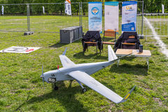An unmanned aerial vehicle UAV at the exhibition Royalty Free Stock Image