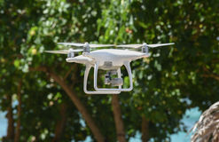 Unmanned Aerial Vehicle UAV. An unmanned aerial vehicle (UAV) surveillance drone in flight stock image