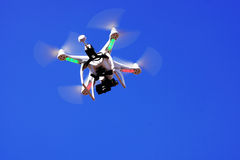 Unmanned aircraft. Against the blue sky Stock Photos