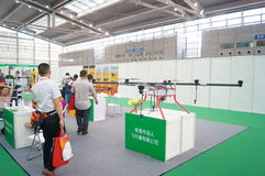 Unmanned aircraft exhibition sales Stock Photos