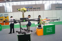 Unmanned aircraft exhibition sales Royalty Free Stock Images