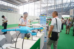 Unmanned aircraft exhibition sales Royalty Free Stock Photos